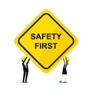 機械は安全に扱えるように設計しています